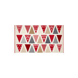 Scandi 3 Bunting 24 In. Panel Linen/Red Fabric