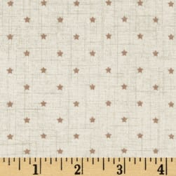 Scandi 3 Mini Star Linen/Tan Fabric