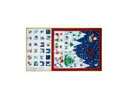 Frosty Advent Calendar 24'' Panel Multi Fabric