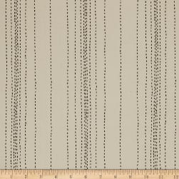 Andover Printed Chambray Stitch Lines Tan/Black Fabric