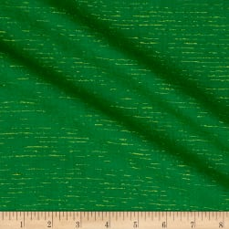 Andover Metallic Chambray Chambray with Lurex Green/Gold Fabric
