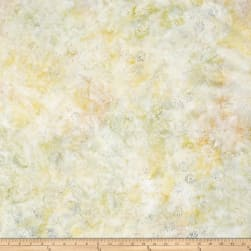 "106"" Wide Wilmington Batik Quilt Back Dancing Leaves Ivory"
