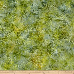 Wilmington Batiks Rippled Reflections Green Fabric