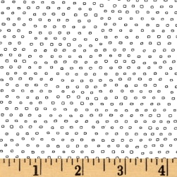 Pixie Square Dot White Fabric