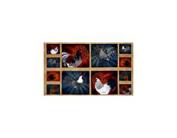 Rise & Shine Rooster Patches 24 In. Panel Multi