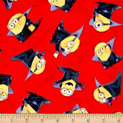 Bite Me Count Minions Red Fabric