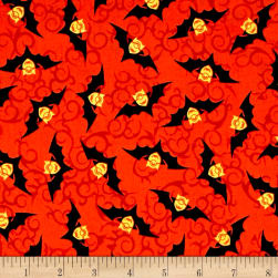 Bite Me Minion Bats Red Fabric