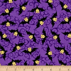 Bite Me Minion Bats Purple Fabric