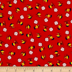 All Stars Woodstock Toss Red Fabric