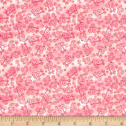Royal Princess Star & Scroll Pink Fabric