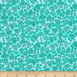 QT Fabrics Royal Princess Star & Scroll Dark