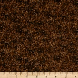 QT Fabrics Wild Pheasants Wheat Dark Brown Fabric