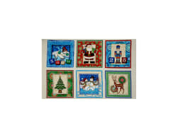 QT Fabrics Santa Coming To Town Christmas Picture