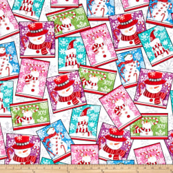 Sweet Season Snowman Patch Multi Fabric