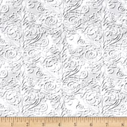 QT Fabrics Christmas Dreams Scroll Lt Pewter Fabric
