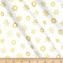 Best Time Of The Year Metallic Snowflake White/Gold