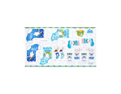 Frosty The Snowman 24in. Stocking Panel Blue Fabric