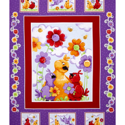 Susybee Bird 36 In. Panel Multi