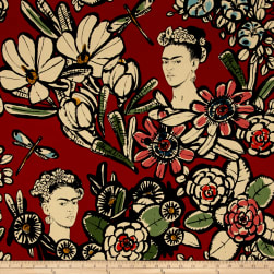 Alexander Henry Folklorico Cactus Flower Red Fabric