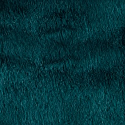 Shannon Faux Fur Solid Mink Deep Teal Fabric