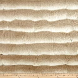 Shannon Wild Chinchilla Faux Fur Beige/White Fabric