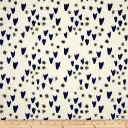 Cotton + Steel Clover Tulips Grey Fabric