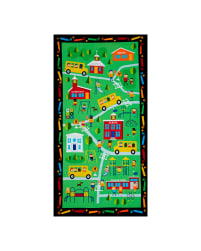 Timeless Treasures School 24''  Panel Green Fabric