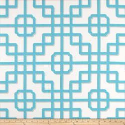 P Kaufmann Indoor/Outdoor Imperial Gate Turquoise Fabric