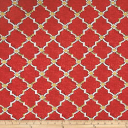 Swavelle/Mill Creek Indoor/Outdoor Eaton Screen Red Berry Fabric