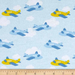 Flannel Airplane Fun Blue Sky