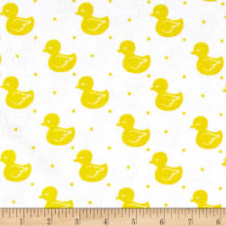 Flannel Cute Duck Yellow
