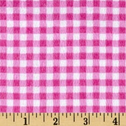 Flannel Basic Plaid Berry Fabric