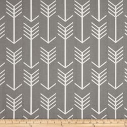 Premier Prints Arrow Indoor/Outdoor Grey Twill Fabric