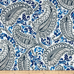 Premier Prints Shannon Indoor/Outdoor Oxford/Cobalt Fabric