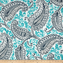 Premier Prints Shannon Indoor/Outdoor Oxford/Ocean Fabric