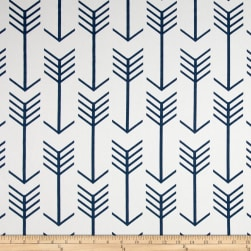 Premier Prints Arrow Twill White/Premier Navy Fabric