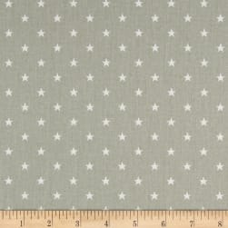Premier Prints Mini Star Twill Snowy Grey/White Fabric
