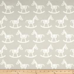Premier Prints Rocking Horse Twill French Grey/White Fabric