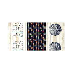 Richloom Solarium Outdoor Lake Life Navy Fabric