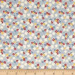 Pinafores & Petticoats Multi Floral Ivory/Blue Fabric