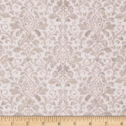 French Flea Market Damask Cream/Mocha Fabric