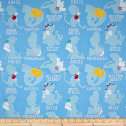 Disney Princess Cameo Blue Fabric