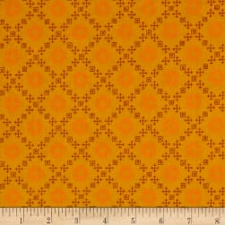 Kaufman Woodland Clearing Geo Plaid Ochre Fabric