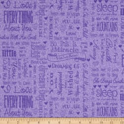 First Words Word Toss Purple Fabric