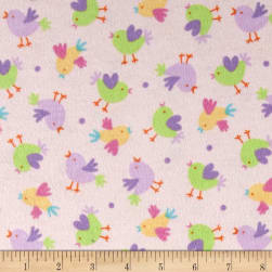 Chicks Flannel Pink Fabric