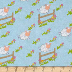 Countdown Flannel Blue Fabric