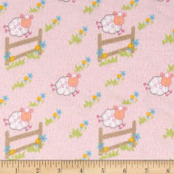 Countdown Flannel Pink Fabric