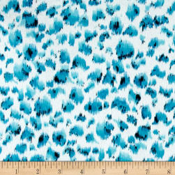 Peta Cheetah Flannel Turquoise Fabric