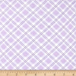Small Argyle Flannel Lilac