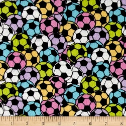 Soccer Stadium Flannel Pastel Fabric